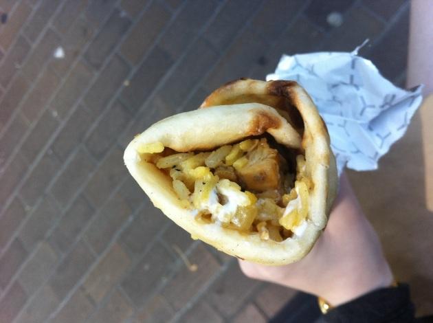 Tandoori Chicken Naan Wrap