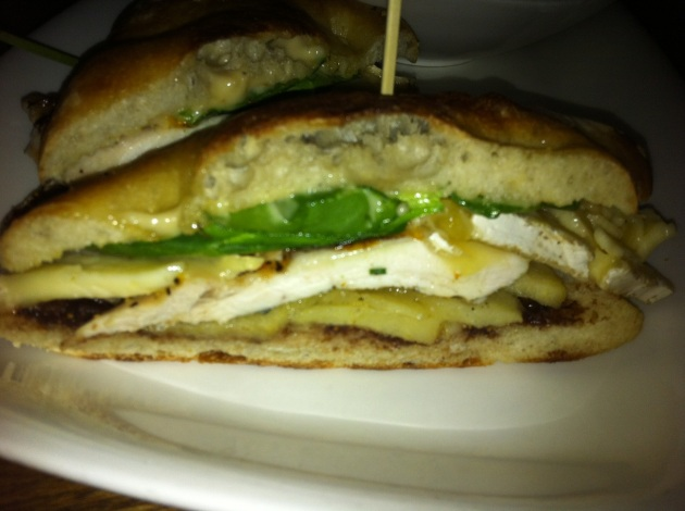 Grilled Chicken and Baked Brie Sandwich