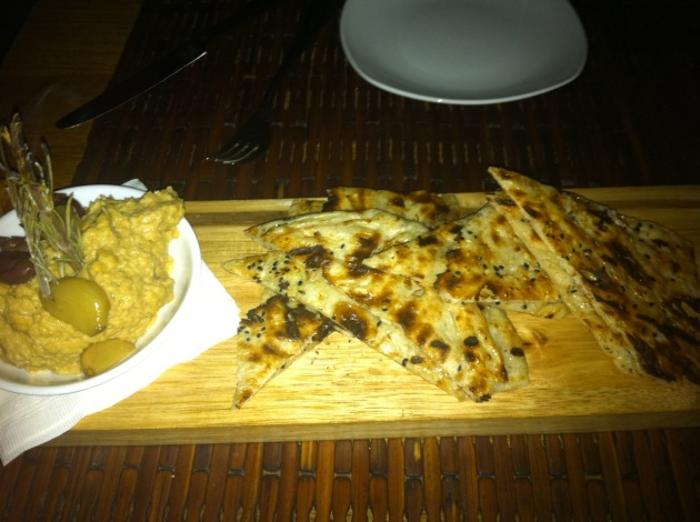Grilled Naan and Hummus