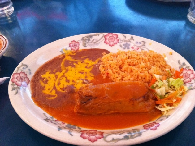 Tamale With Rice and Beans