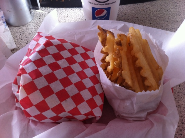 Burger and Waffle Fries