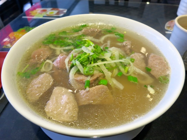 Rare Steak and Beef Ball Pho