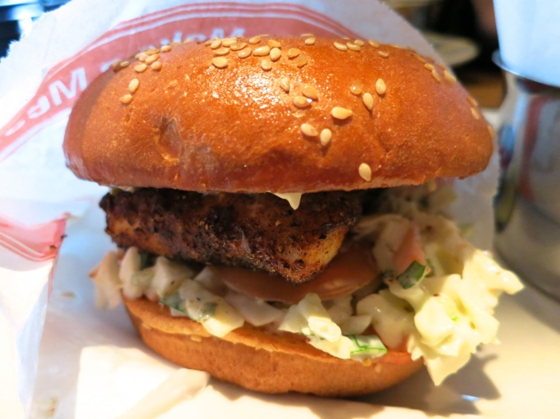 Almost Famous Blackened Fish Burger