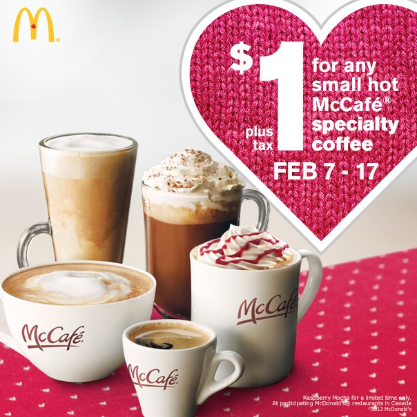 McDonald's $1 Specialty Coffees