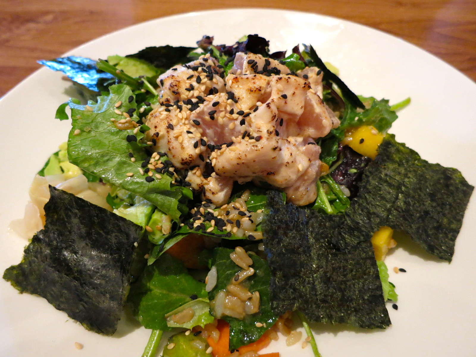 Brown Rice With Tuna, Avocado, And Toasted Nori Recipes — Dishmaps