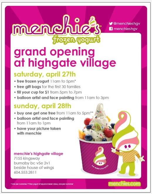 Menchie's HighGate Grand Opening
