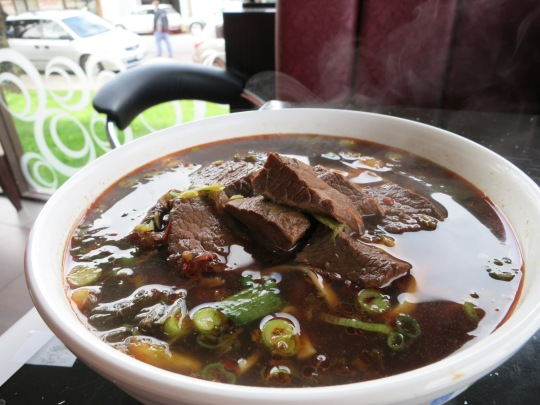 Braised Beef Flank in Spicy Noodle Soup