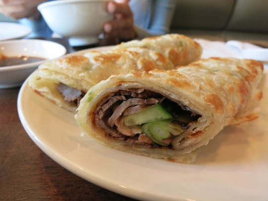 Marinated Beef With Soy Sauce Wrapped in Pancake