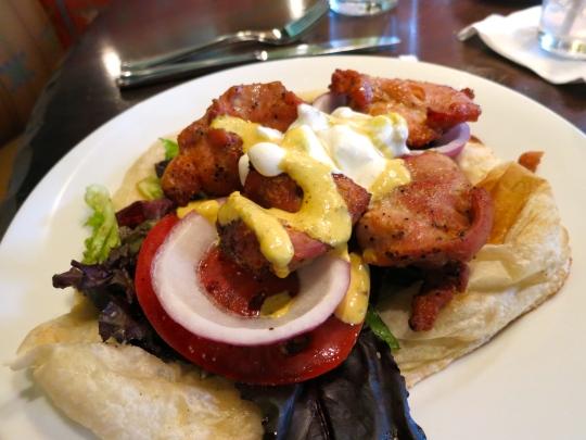 Tandoori Chicken Naan Sandwich