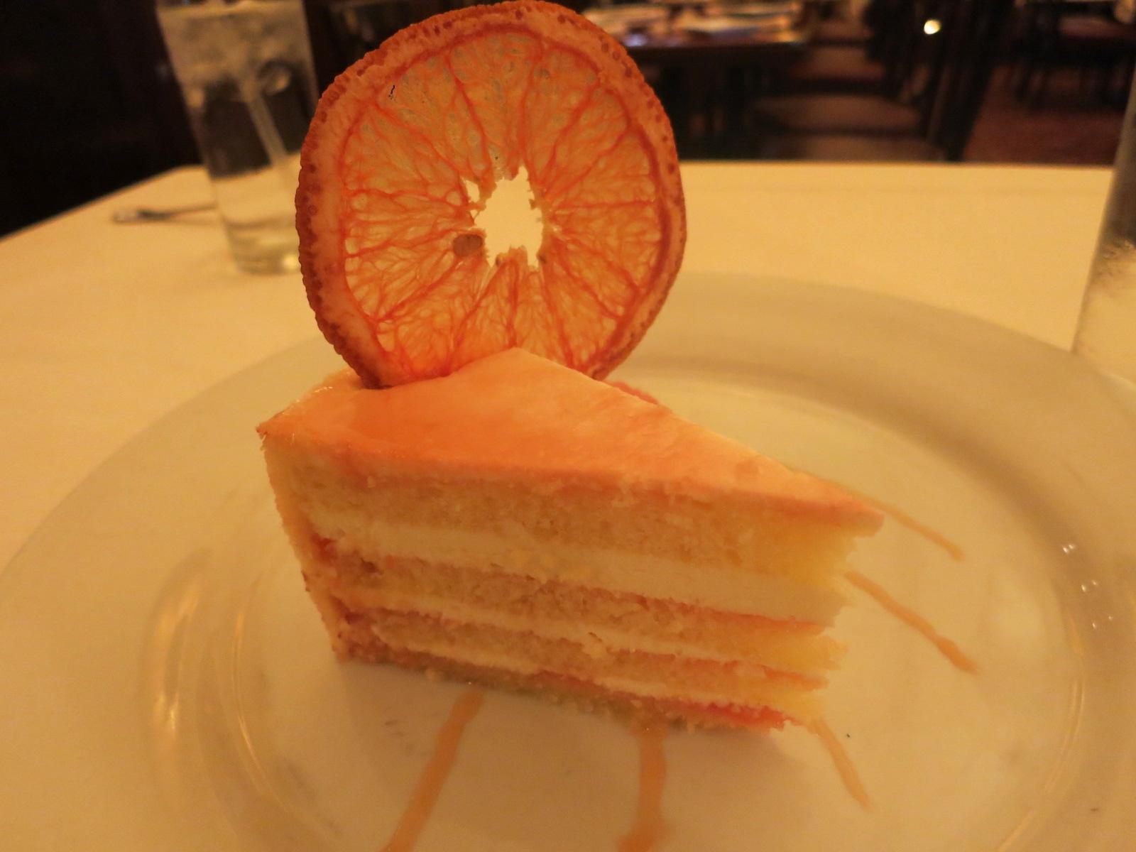 Slice of grapefruit cake 14