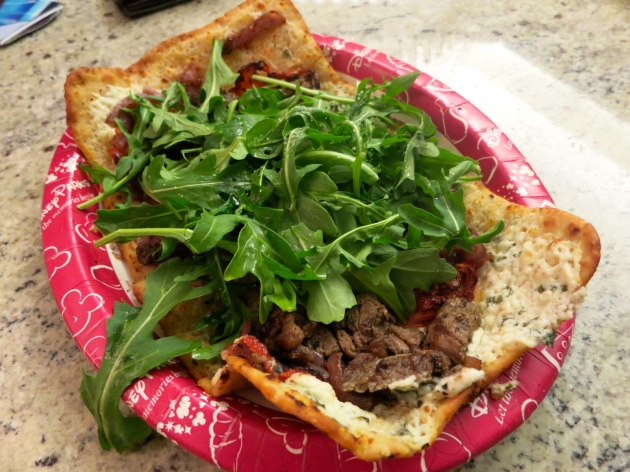 Marinated Beef Flatbread