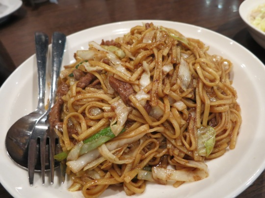 Fried Noodles with Beef in Satay Sauce