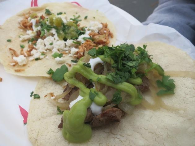 Slivered Beef and Chicken Marinado Taco