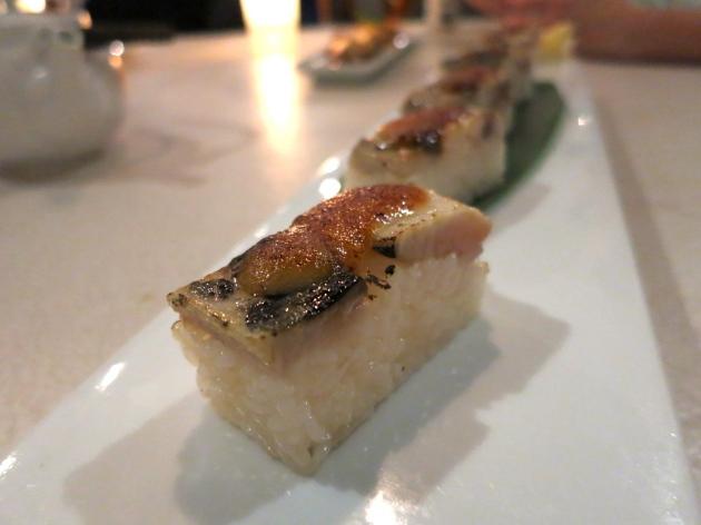 aburi saba oshi sushi
