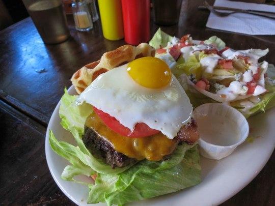 Breakfast Waffle Burger