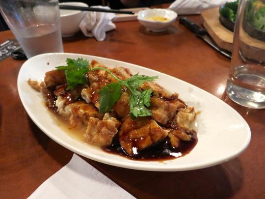 Stewed Tofu with Garlic Sauce