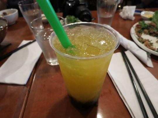 Mango Green Tea with Pearls