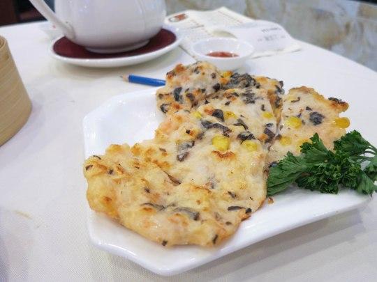 Pan Fried Shrimp and Corn Dumplings