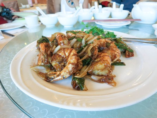 Pan-Fried Tiger Prawns