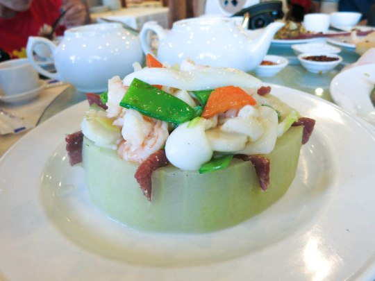 Winter Melon with Assorted Seafood