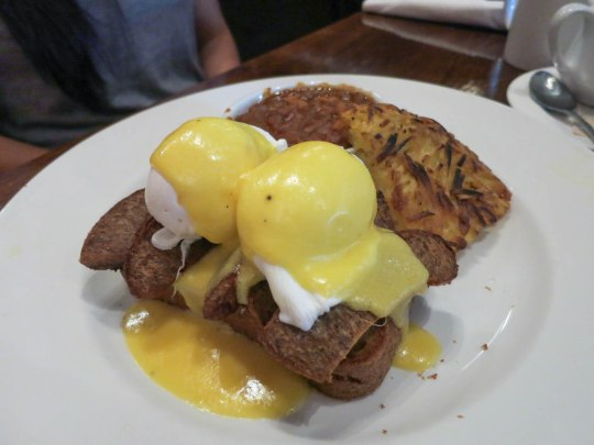 Honey Lager Sausage Eggs Benny