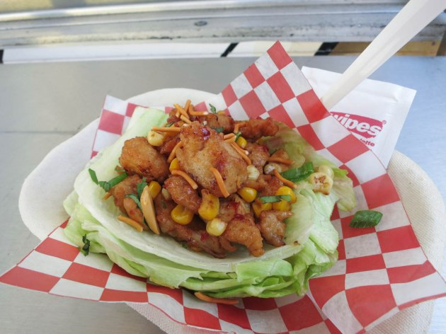 Kung Pao Chicken Lettuce Wrap