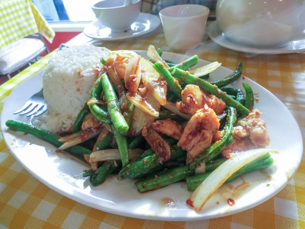 Szechuan Chicken and Green Beans