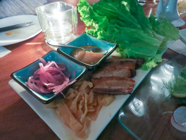Pork Belly Lettuce Wraps