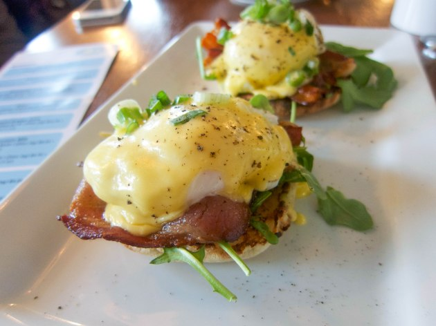 Double Smoked Bacon Benedict