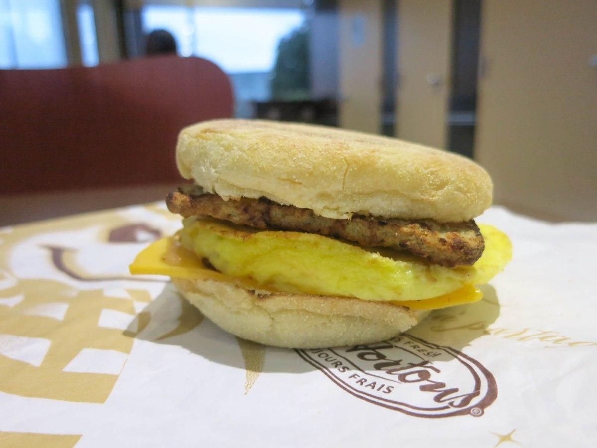 Tim Hortons Turkey Sausage Breakfast Sandwich | THE FOOD QUEEN ...