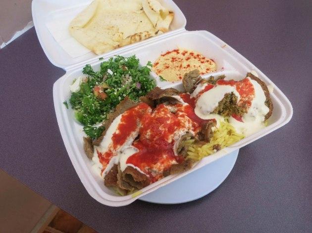 Lamb and Falafel Plate