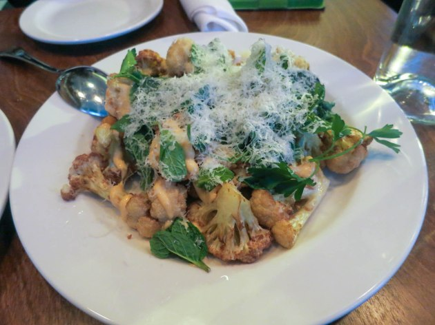 fried cauliflower & aioli