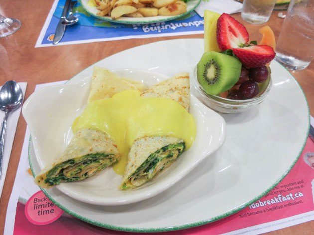 Spinach Crepe Omelette