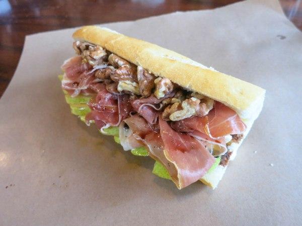 Prosciutto, Pear, Blue Brie Sandwich
