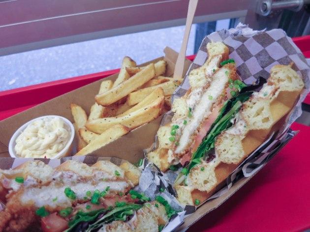 Crispy Chicken Waffle Sandwich