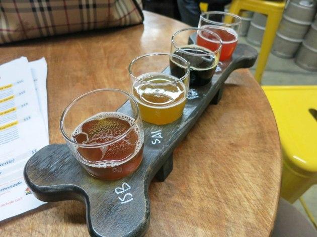 Yellow Dog Beer Flight