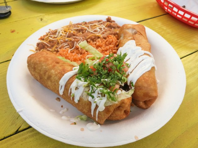 Pork Chimichangas