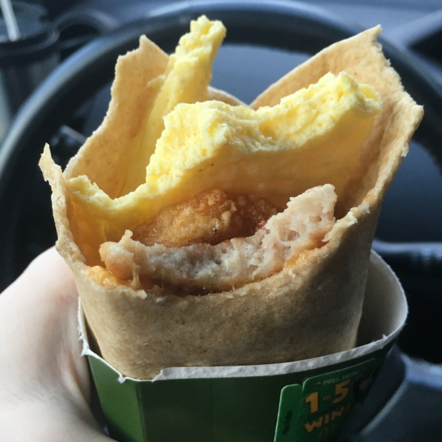 McDonalds Sausage and Egg More-Ning Breakfast Wrap